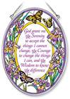 "Serenity Prayer 7"" Glass Suncatcher"