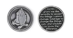 Serenity Prayer On Pewter Coin