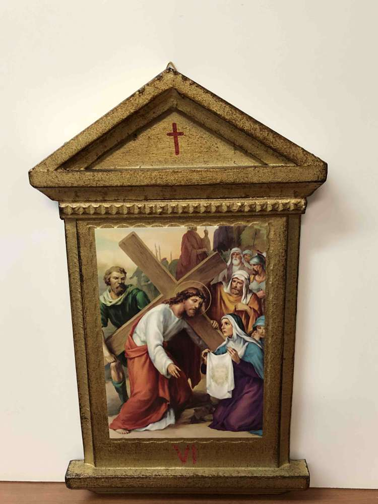 Set 14 Stations Of Cross - Florentine Finish
