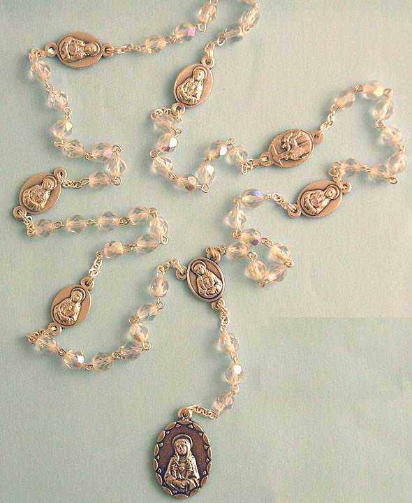 Seven Dolors Crystal Rosary