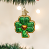 Shamrock Glass Ornament