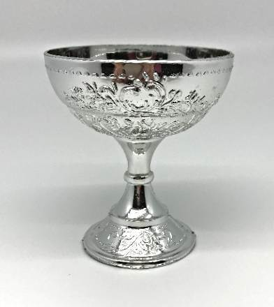 Silver Colored Chalice  chalice, silver, cake topper, group gift, party favor, holy communion, holy eucharist, sacramental, 2034SL