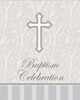 Silver Cross Baptism Invitation 8/pkg invitations, silver, cross, baptism, communion, confirmation, your invited, sacramental, special occasion, 899543