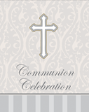 Silver Cross Communion Invitation 8/pkg