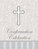 Silver Cross Confirmation Invitation 8/pkg invitations, silver, cross, baptism, communion, confirmation, your invited, sacramental, special occasion, 899143