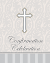 Silver Cross Confirmation Invitation 8/pkg