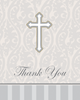 Silver Cross Thank You Notes 8/pkg thank you cards, notecards, silver cross notecards, holy communion thank you, confirmation thank you, baptism thank you, RCIA thank you, sacramental thank you, 892543