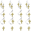 Silver & Gold Cross Dangler Decorations