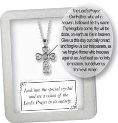 Silver Plated Lords Prayer Cross