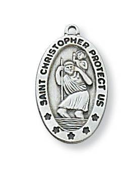 Silver St. Christopher Medal
