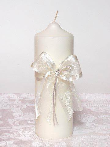 Simplicity White Pillar Candle unity candle, pillar candle, wedding candle, wedding gift, shower gift,