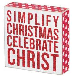 Simplify Christmas Celebrate Christ Box Sign *WHILE SUPPLIES LAST*