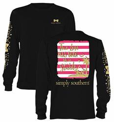 Simply Southern True Love/Stable Long Sleeve Black T-Shirt