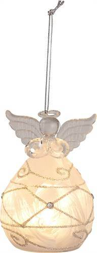 Small Glass Light Up Angel Ornament