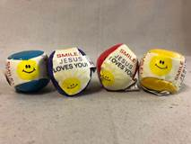 Smile! Jesus Loves You Beanie Bag Balls 12/PKG | CATHOLIC CLOSEOUTS