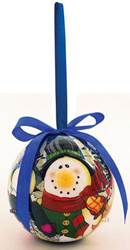 Snowman Family Lighted Nose Ball Ornament