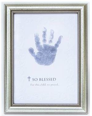 'So Blessed' Baby's Handprint Framed