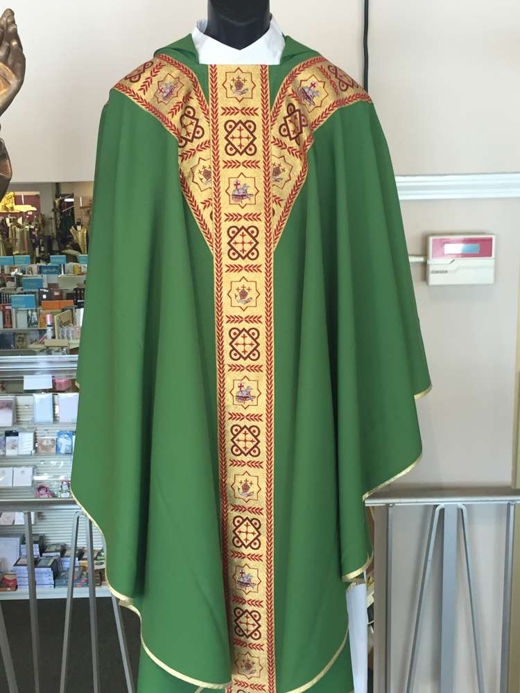 Solivari Green Chasuble