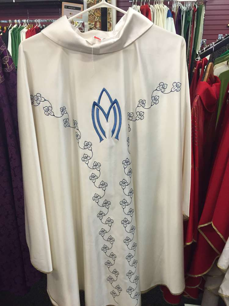 Solivari Satin Marian Chasuble, From Italy