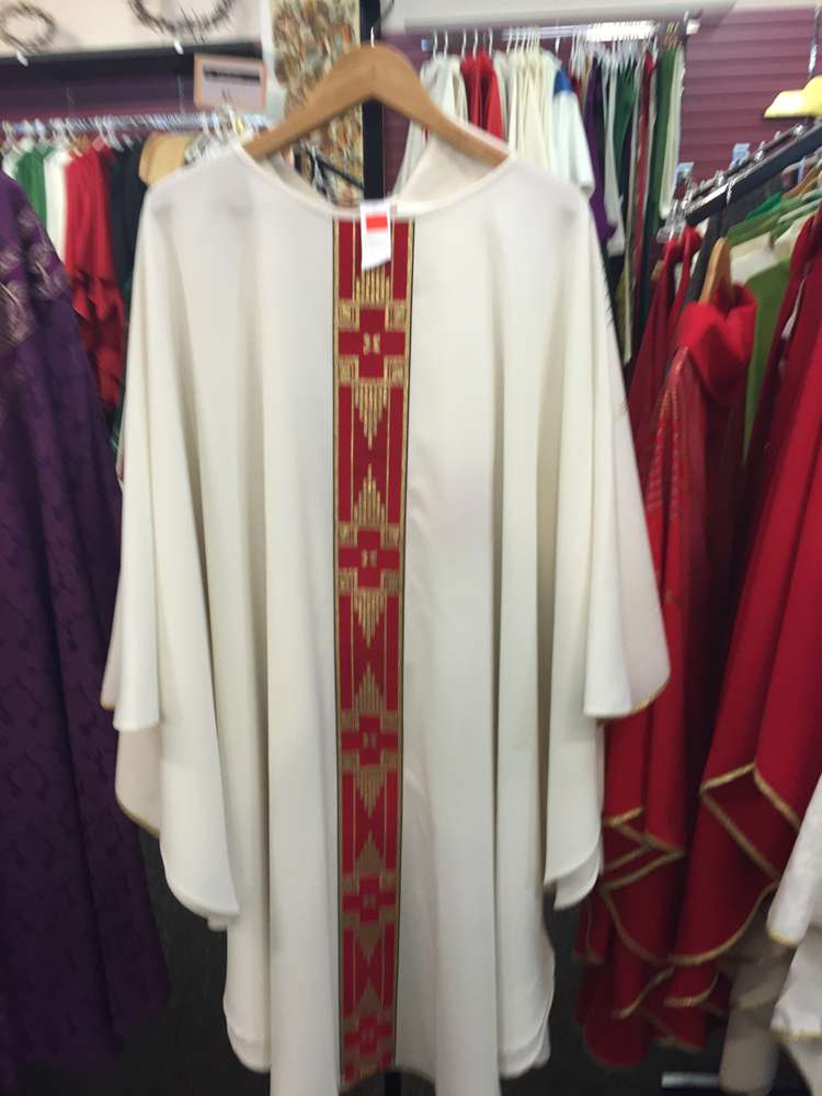 Solivari White Chasuble