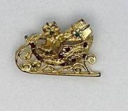 Sparkle Sleigh Lapel Pin