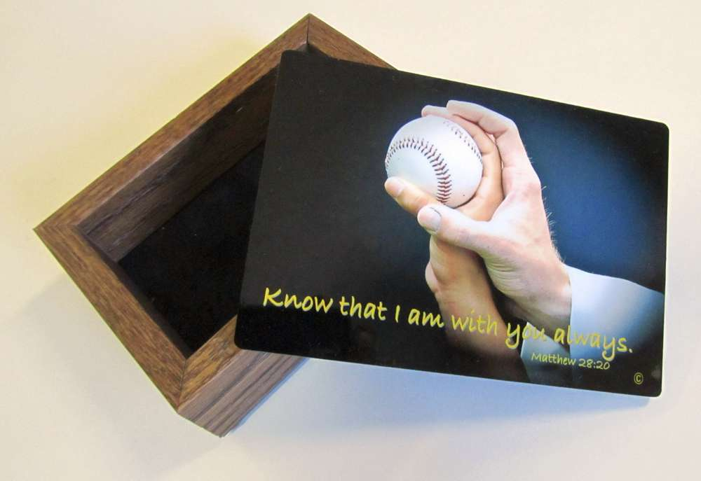 Sports Keepsake Box-Baseball communion gift, reconciliation gift, confirmation gift,keepsake box, jewelry box, youth gift,  sport collectable box, sports prayer, prayer for athletes, baseball keepsake box, baseball card holder, baseball gift