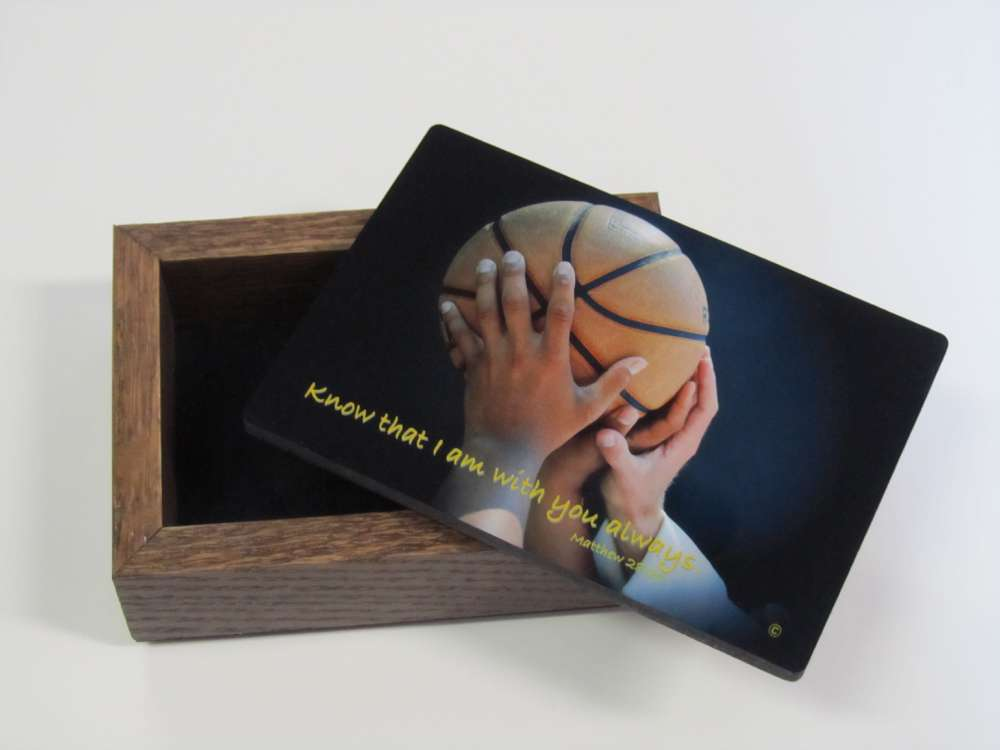 Sports Keepsake Box-Basketball