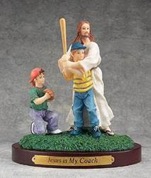 Jesus Sports Statue-Baseball jesus is my coach, sports statue, first communion gift, reconciliation gift, confirmation gift, youth gift, birhtday gift, boy gift, girl gift, sport gift, athlete gift, baseball gift, baseball statue