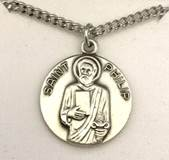 "St. Philip  3/4"" Sterling Silver Medal on 18"" Chain"