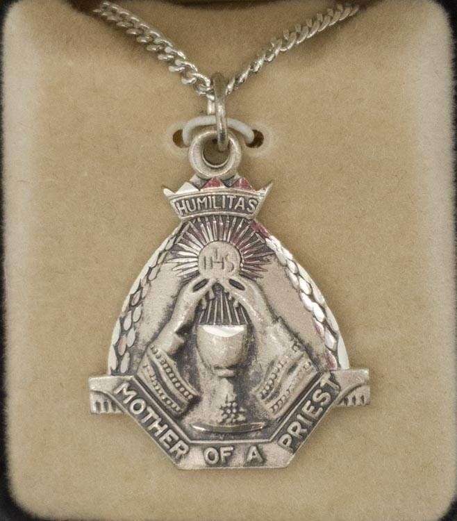 Sterling Silver Mother Of A Priest Medal