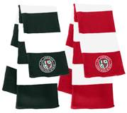 St. Ambrose Rugby Striped Knit Scarf