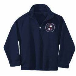 St. Ambrose Navy Quarter Zip Fleece