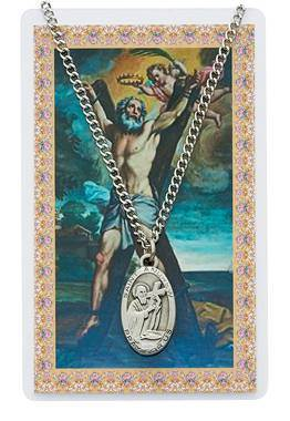 St Andrew Pendant & Holy Card