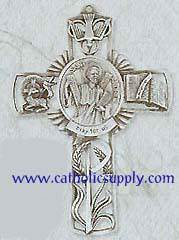 St. Andrew Pewter Wall Cross