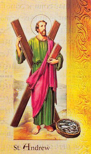 St. Andrew The Apostle Biography Card