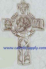 St. Anthony Pewter Wall Cross