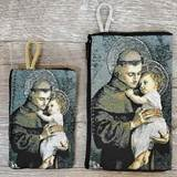St. Anthony Woven Rosary Pouch from Turkey