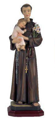 "St. Anthony Statue 12"" st anthony statue, patron of lost things, resin stone mix, home decor, demetz classico, church decor, 375DC12"