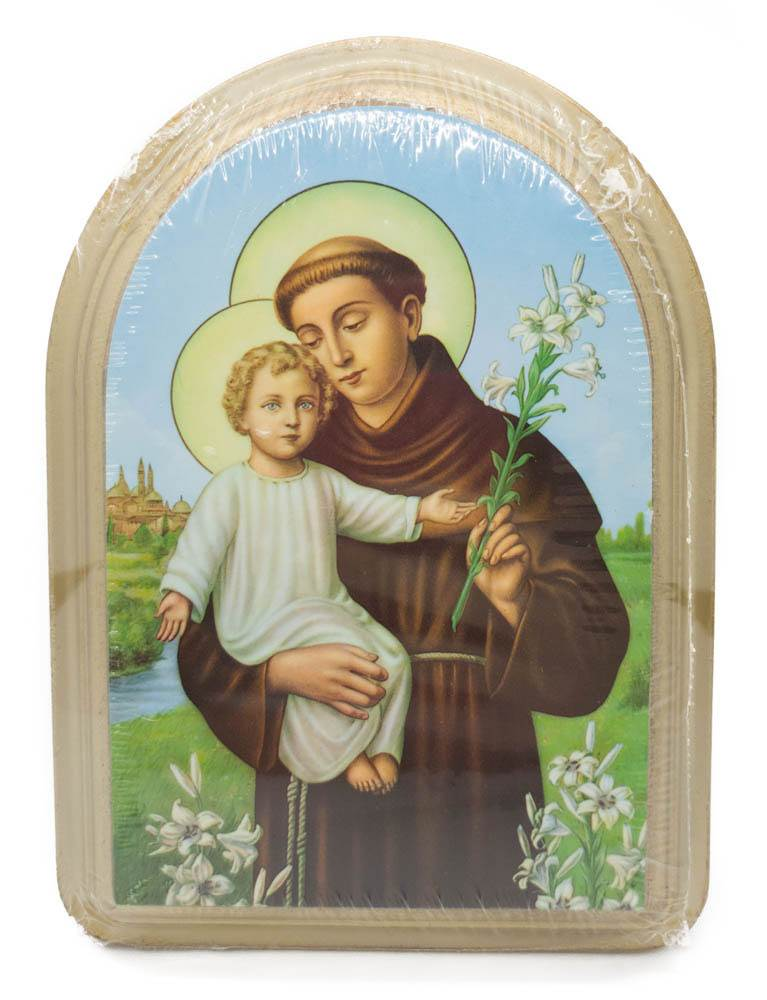 St. Anthony Wood Wall Plaque