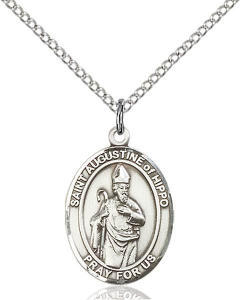 St. Augustine of Hippo Patron Saint Necklace