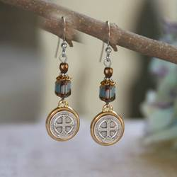 St. Benedict Earrings st benedict earrings, sacramental earrings, confirmation gift, special occasion gift, in-39, medjugorje