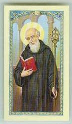 St. Benedict Laminated Holy Card st. benedict, holy card, medjugorje, E24-645, laminated, group gift,