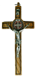 St. Benedict Olive Wood Wall Cross