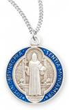 "St. Benedict Round Medal on 18"" Chain"