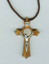 St. Benedict Wood Crucifix