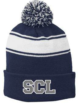 St. Catherine Laboure Pom Pom Beanie with Embroidered Logo
