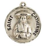 "St. Catherine Laboure Sterling Silver on 18"" Chain"