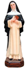 St. Catherine Statue patron saint statue, home decor, church decor, imported statue, peru statue, hand painted statue, colored statue,