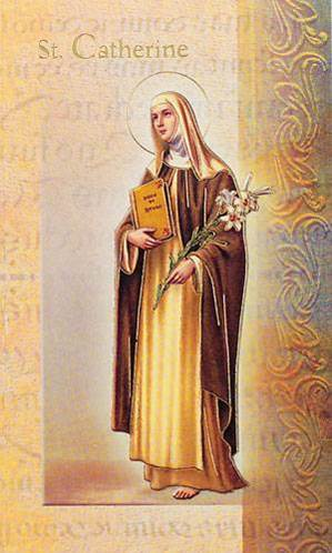 St. Catherine of Siena Biography Card
