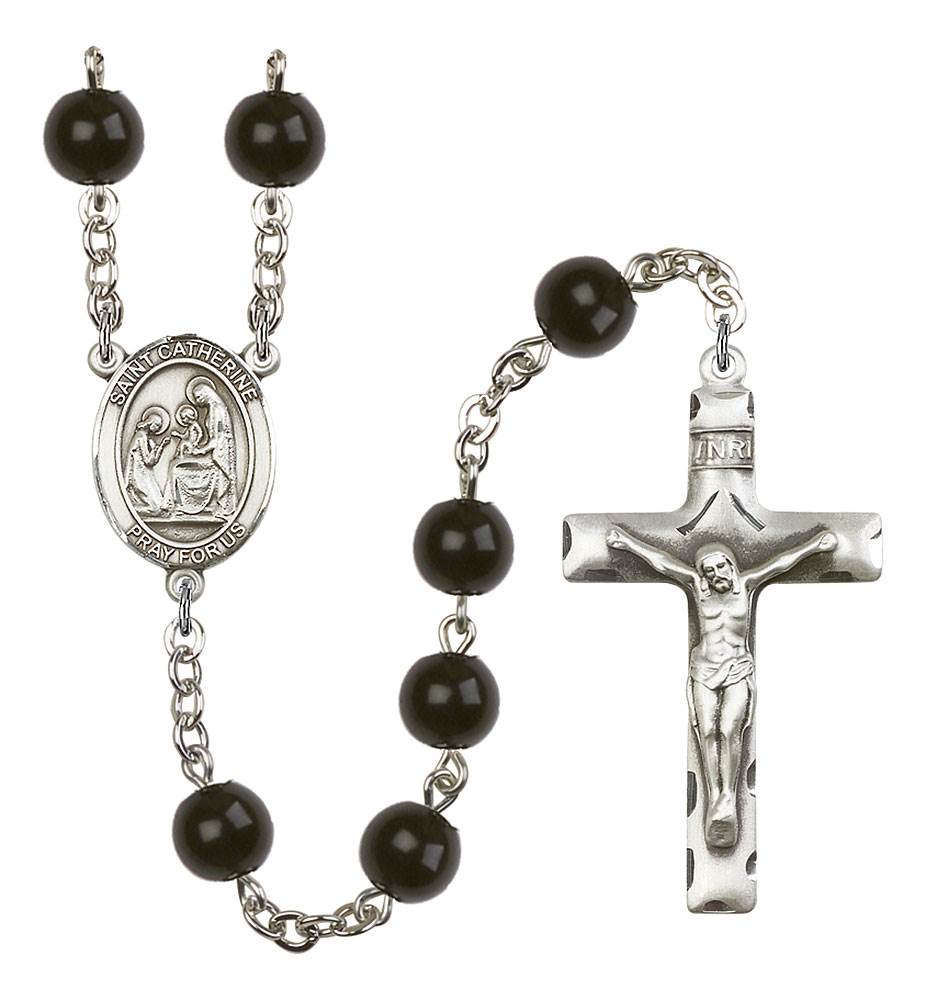 St. Catherine of Siena Patron Saint Rosary, Square Crucifix
